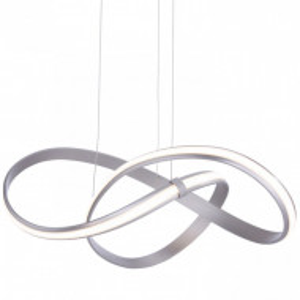 Lustra tip pendul LED Melinda I sticla acrilica / aluminiu, 1 bec, argintiu, 230 V, 32 W
