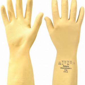 Manusi Processor II din cauciuc, marimea L, galben