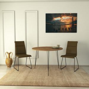 Masa Aneres, maro/neagra, 90 x 90 x 76 cm