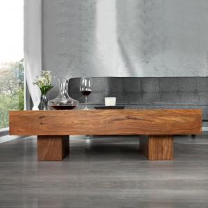 Masa Cara, lemn masiv, maro, 30 x 100 x 45 cm