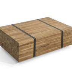 Masă de cafea din lemn masiv de tec GANDER, 110 x 69 x 37 cm