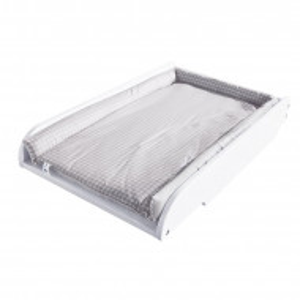 Masă de înfășat pentru pătuț, alb, 14cm H x 80cm W x 49cm D