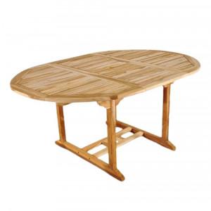 Masa extensibila Aruba, lemn masiv, 75 x 170 x 120 cm