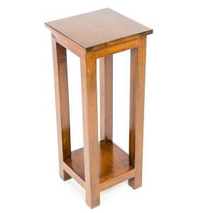 Masa laterala Asro, lemn, maro, 76 x 30 x 30 cm