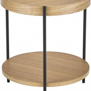 Masa laterala Renee, maro/neagra, 44 x 49 cm