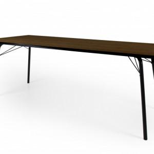 Masa Mangum, negru/maro, 140 x 80 x 75 cm