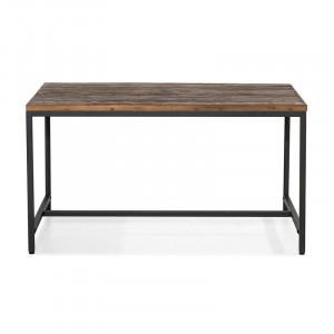 Masa Perlman, lemn masiv, maro/negru, 140 x 90 x 76 cm