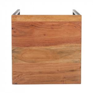 Masuta laterala Woodson, lemn masiv de salcam