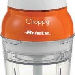 Mini tocator Ariete Choppy, alb/portocaliu, 10 x 10 x 20 cm, 160 W
