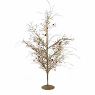 Obiect decorativ Glitzy Tree, auriu