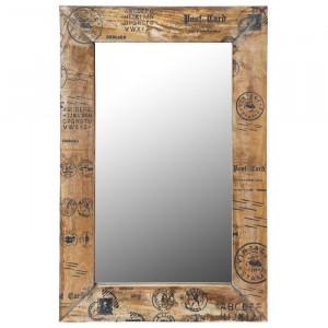 Oglinda de perete Noam, lemn, maro, 90 x 60 x 2 cm