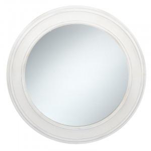 Oglinda Mandrina, alba, D 76 cm