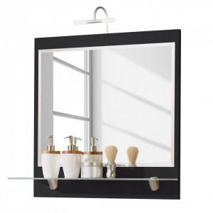Oglinda Tara PAL/MDF, negru, 70 x 68 x 22 cm