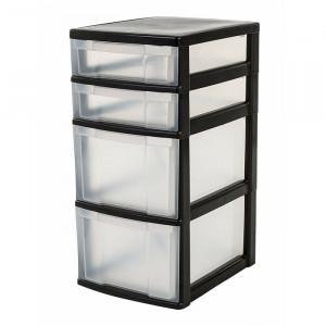 Organizator, plastic, negru, 61,5 x 30 x 38 cm