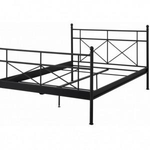 Pat metalic Thora 90x 200 cm- negru