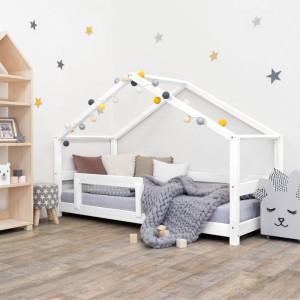 Pat pentru copii Lucky House, alb, 146 x 129 x 209 cm