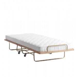 Pat pliant RestBook, maro, 90 x 200 cm