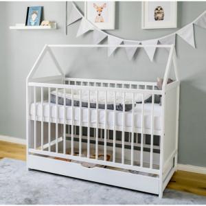 Patut pentru bebelusi, alb, 118 x 65 x 122 cm