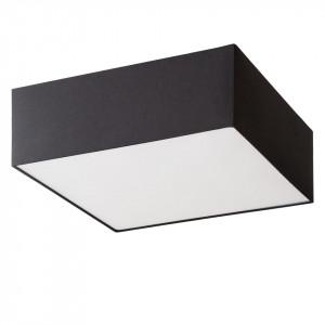 Plafoniera Borris tesatura/fier, patrat, 50cm, negru, 2 becuri, 240 V