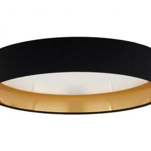 Plafonieră Mallory, negru, 41 x 10cm