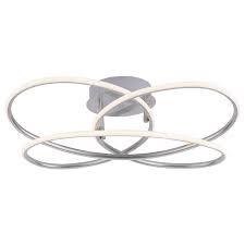 Plafoniera Node, LED, metal/plastic, 60 x 18 x 60 cm, 27 w