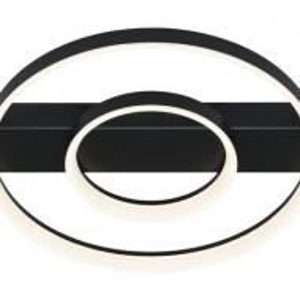 Plafoniera Petom, metal/plastic, neagra, 40 x 7 x 44 cm