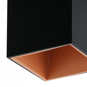 Plafoniera Polasso I aluminiu, negru, 1 bec, 230 V