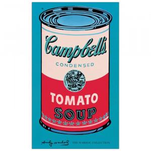 "Poster ""Campbell's Soup Can"", albastru/rosu, 101 x 61 cm"
