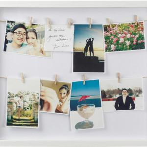 Rama foto, alb, 52 x 45 x 4 cm