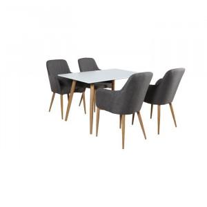 Scaun Auxier, lemn, gri/maro, 90 x 56 x 63 cm