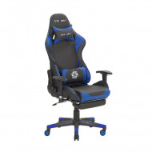 Scaun de gaming Victory, negru/albastru, 55 x 60 x 132 cm