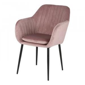 Scaun McNair, metal/textil, roz, 83 x 57 x 59 cm