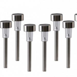 Set de 10 lampi Genova, LED, plastic, argintii, 6 x 25 x 6 cm