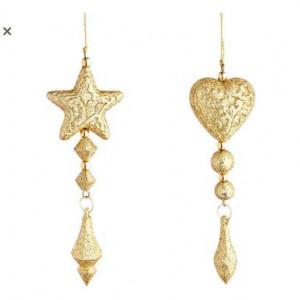 Set de 12 decoratiuni Vogue Frenzy aurii