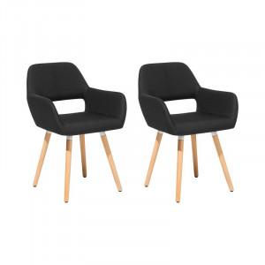 Set de 2 scaune Alida, negru, 81 x 44 cm