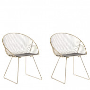Set de 2 scaune AURORA, aurii, 65 x 54 x 77 cm