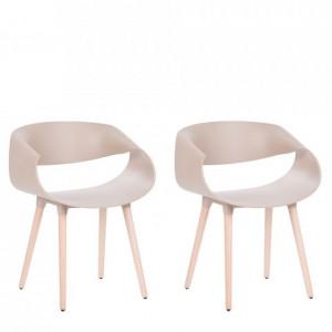 Set de 2 scaune Charlotte, bej, 55 x78cm