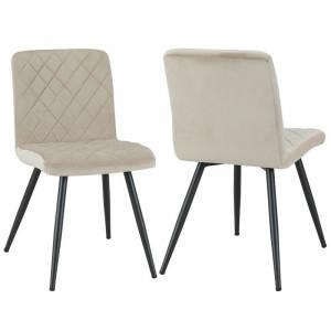 Set de 2 scaune Corpuz, crem, 84 x 43 cm