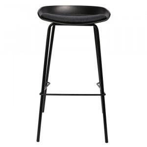 Set de 2 scaune de bar Caperton, negru, 84 x 43 x 43 cm