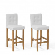 Set de 2 scaune de bar Madison, maro/alb, 45 x 58 x 110 cm