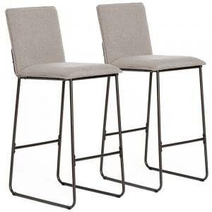 Set de 2 scaune de bar Yoko, taupe, 102 x 55 x 43 cm