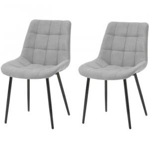 Set de 2 scaune Manawa, Gri, 83 x 44 x 44 cm