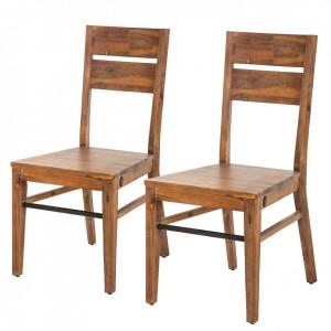 Set de 2 scaune Manchester din lemn masiv
