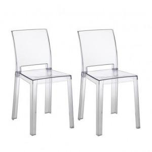 Set de 2 scaune Mia, transparent, 46 x 82 x 44 cm