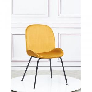 Set de 2 scaune tapițate Bobby, galben