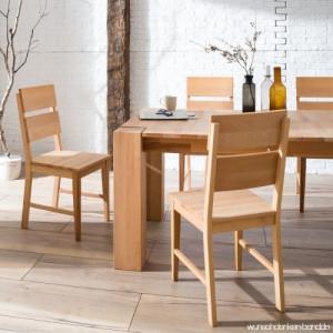 Set de 2 scaune TelferWood I din lemn masiv de fag, maro, 42 x 92 x 49 cm