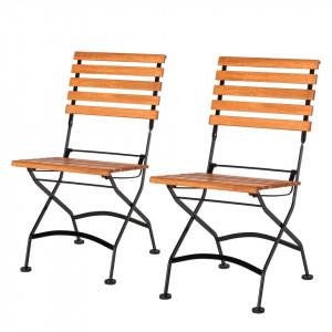 Set de 2 scaune Tuscany - eucalipt/otel