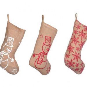 Set de 3 ciorapi pentru cadouri de Craciun Agnes