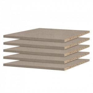 Set de 5 polite Rauch Pack, pentru adâncimea dulapului 57-62