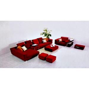 Set de 7 componente pentru living, roșu